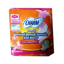 Charm Body Fit Extra Maxi Wing 5 pads