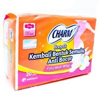 Charm Body Fit Extra Maxi Wing 20 pads 1