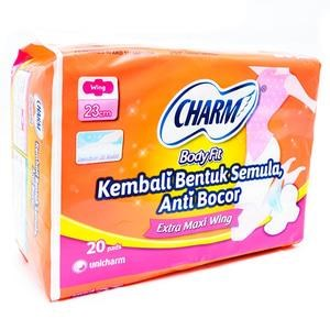 Charm Body Fit Extra Maxi Wing 20 pads