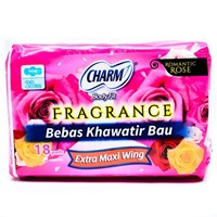 Charm Body Fit Fragrance Extra Maxi Wing 18 pads 1