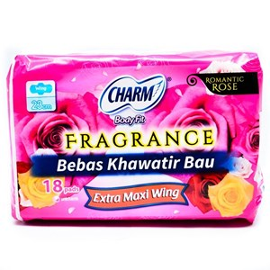 Charm Body Fit Fragrance Extra Maxi Wing 18 pads