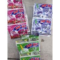 Pop ice drink powder ed blender strawberry sachet 25 gr