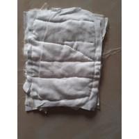 Kain majun juli warna putih 12 x 12 cm