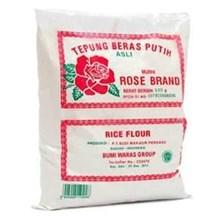 Tepung beras rose brand putih 500 gr kami jual 1 dus isi 20 psc.