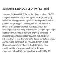 Beli TV LED  SAMSUNG TYPE 32N4003 4
