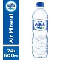 Jual Aqua Mineral 600 ml x 24 botol/dus