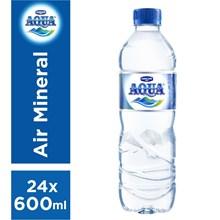 Aqua Mineral 600 ml x 24 botol/dus