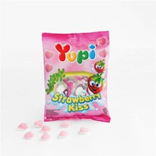 Yupi Strawberry Kiss Mini Bag 12x6x45 gr