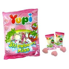Yupi Strawberry Kiss Hanging Bag 24x120gr