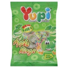 Yupi Apple Rings Hanging Bag 24x120gr