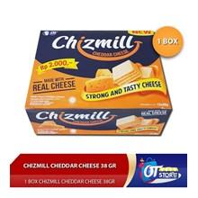 CHIZMILL CHEDDAR CHEESE 38GR  1 BOX ISI 12PCS Makanan dalam Kemasan