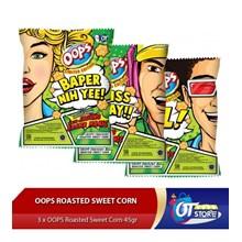OOPS ROASTED SWEET CORN 45GR ISI 3PCS  per pack Makanan dalam Kemasan