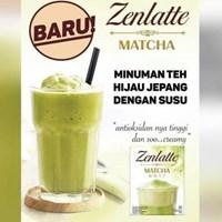 Zenlatte Matcha Teh Serbuk Hijau dengan Krimer 20gr x 10 sacet  /BOX Minuman Teh sku 019