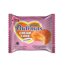 Padimas cream cake /bolu isi krim11 gr isi 10pcs bungkus  Makanan dalam Kemasan sku029