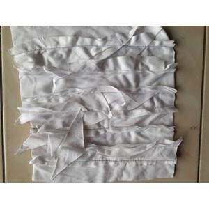 Kain majun warna putih  jahit tumpuk 30 cm  Kain Majun  sku 030