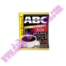 ABC MIX   Kopi dan Gula 25 gramx10 sachet/r X 12/120 bungkus