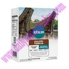 EXCELSO KALOSI TORAJA BUBUK 10GR (SACHET)  Kemasan Sachet isi 10 gram Satu pack berisi 10 Sachet Kopi Sachet SKU010