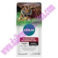 EXCELSO SUMATERA MDL BIJI 200 GR  Kemasan Pack isi 200 gram Satu Karton berisi 20 Pack Kopi Sachet  1