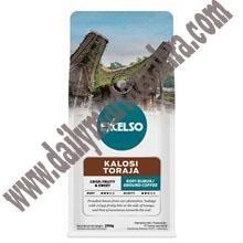 EXCELSO KALOSI TORAJA HALUS 200 GR Kemasan Pack isi 200 gram Satu Karton berisi 20 Pack Kopi Sachet