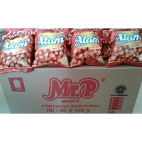Jual Mr P kacang atom pedas 100 gr(isi 40 pcs/ctn) 2