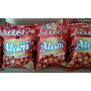 Mr P kacang atom pedas 100 gr(isi 40 pcs/ctn)