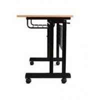 Srikandi meja lipat Folding Desk Moveable ukuran 120 cm (P) x 60 cm (L) x 75 cm (T) 1