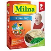 Milna Bubur Reguler 9 Bln Semur Daging Kacang Polong 120gr 1
