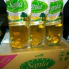 Sania minyak goreng 1 liter refill x 12 pouch/carton