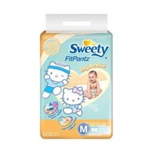 Sweety Fit Pants Baby Diapers Size M / 60 pcs x 6 bags / carton