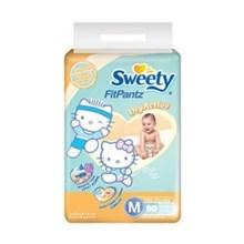 Sweety Fit Pants Popok Bayi Size M/60 pcs x 6 kantong/carton