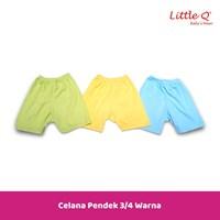 Baju Celana setelan lengan sui Little Q girl  3 per 4 print L XL per pax isi 3 stell 1