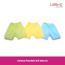 Baju Celana setelan lengan sui Little Q girl  3 per 4 print L XL per pax isi 3 stell