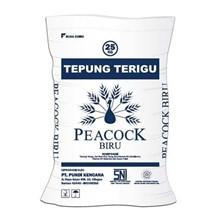 peacock biru tepung mie 25kg