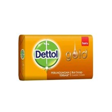 Dettol Soap Gold Yellow 65gr x 144 pcs/carton (Sabun Anti Bakteri Dettol )