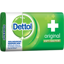 Dettol Soap Original 105gr x 144 pcs/carton (Sabun Anti Bakteri Dettol Original)