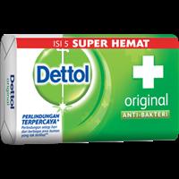 Jual Dettol Soap Original 65 GR Super Hemat  5/135 pcs/carton (Sabun Anti Bakteri Dettol Original (4+1 65g)