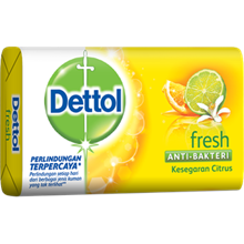 Dettol Soap Fresh 105grx 144pcs/carton (Sabun Anti Bakteri Dettol Fresh (65g)
