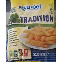 MYDIBEL french fries tradition 11/11/ 2.5kg/bag x 4 bag /carton