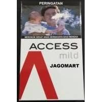 Rokok Access mild 16  batang x 10pax x 100 slop/ball