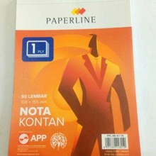 Paperline  nota kontan 1 PLY 50 Lembar - 155 mm x 108 mm