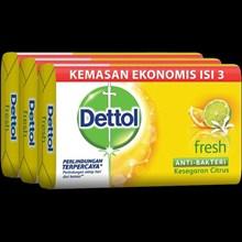 Dettol  soap ekonomis 105 gr Lasting Fresh 3sp x 48 pax/carton