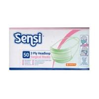 Jual SENSI MASKER  HEADLOOP (HL) PREMIUM green -50 x 20 pax per carton