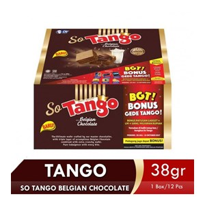 SO TANGO BELGIAN CHOCOLATE 38 GR (1 BOX ISI 12PCS)
