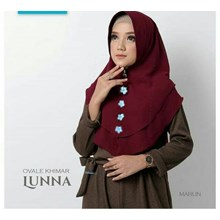 Kerudung Ovale khimar Lunna