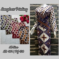 Jual Longdress Printing All Size LD 104 /PJ 120
