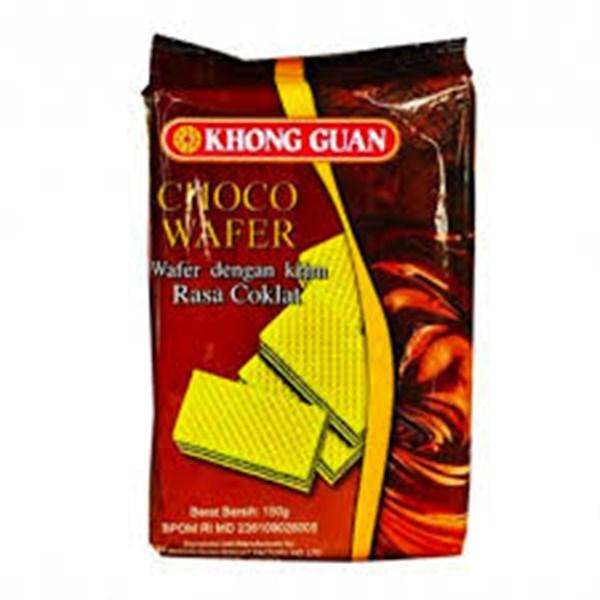 Khonghuan choco wafer rasa coklat 150grx 30pak/ctn