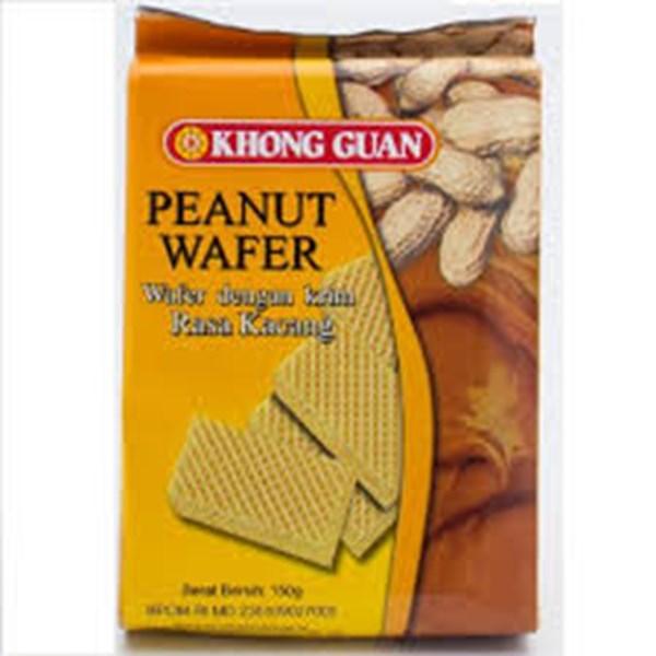 Khonghuan choco wafer rasa peanut 150grx 30pak/ctn