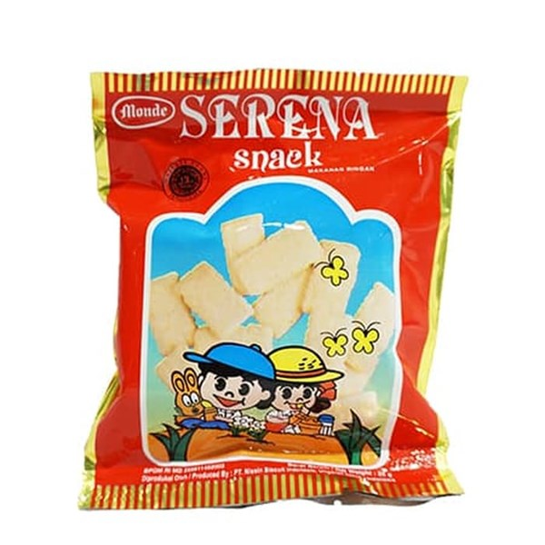 Monde serena snack red 25 gr x 45pcs/ctn