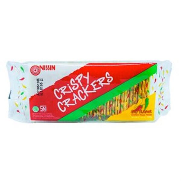 Nissin crispy pedas 140 gr x 36pcs/ctn