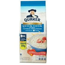 Quaker quick cooking oatmeal 1200gr x 12 pcs/ctn